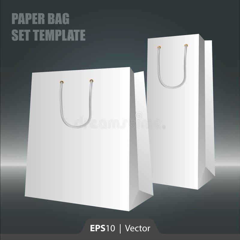 网或印刷品的纸袋集合模板 免版税图库摄影
