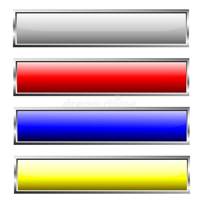 网按钮五颜六色的设计集合 向量例证