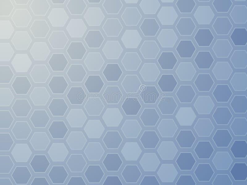 网格六角形墙纸 库存例证