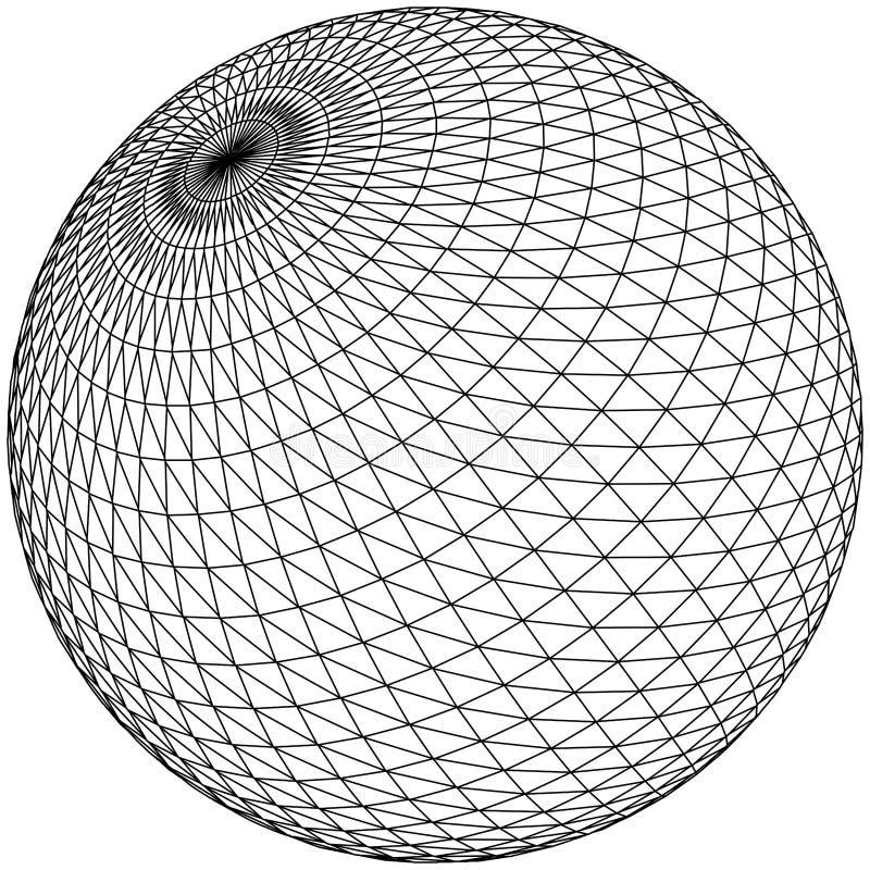 网格向量 库存例证