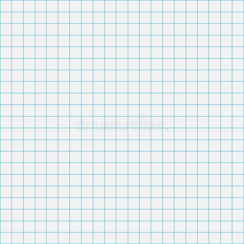 网格图表线在灰色纸背景,纸网格图表线笔记本空白,网格线纹理的整页  向量例证