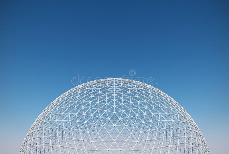 网格球顶 免版税图库摄影