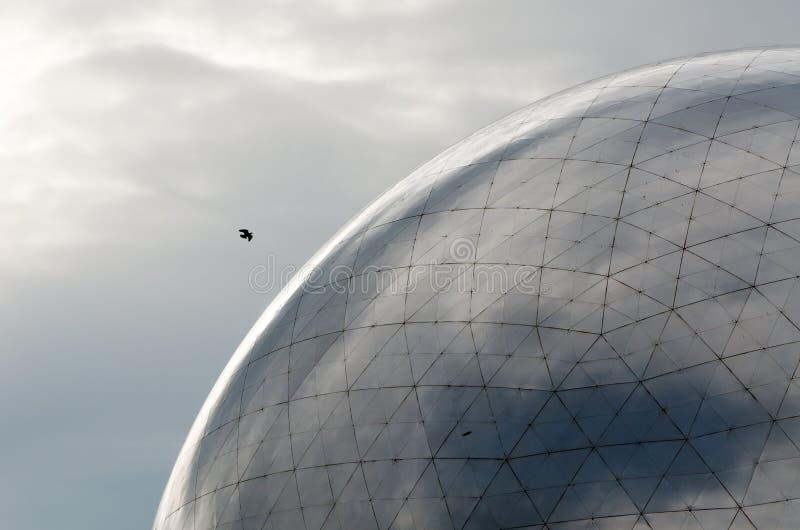 网格球顶 库存图片