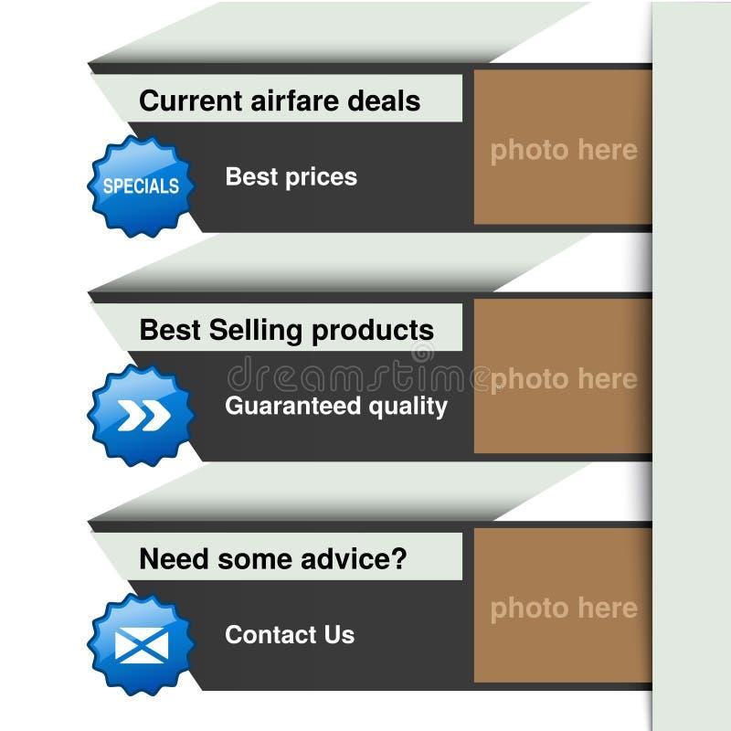 Download 网模板-横幅,网站布局 向量例证. 插画 包括有 图象, 灰色, 项目, 标签, 商业, 蓝色, 命令, 选项 - 30327346