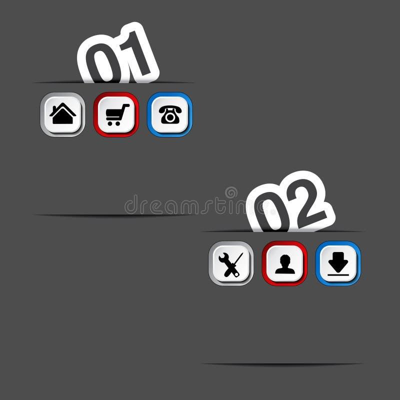 Download 网模板- 2步,选择,横幅 向量例证. 插画 包括有 颜色, 标签, 营销, 棚车, 格式, 面板, 菜单 - 30327248