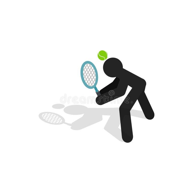 网球利润象,等量3d样式 库存例证