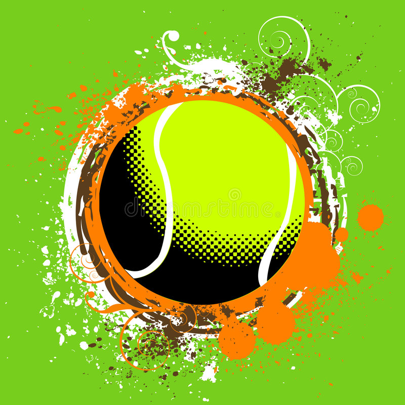网球向量 向量例证