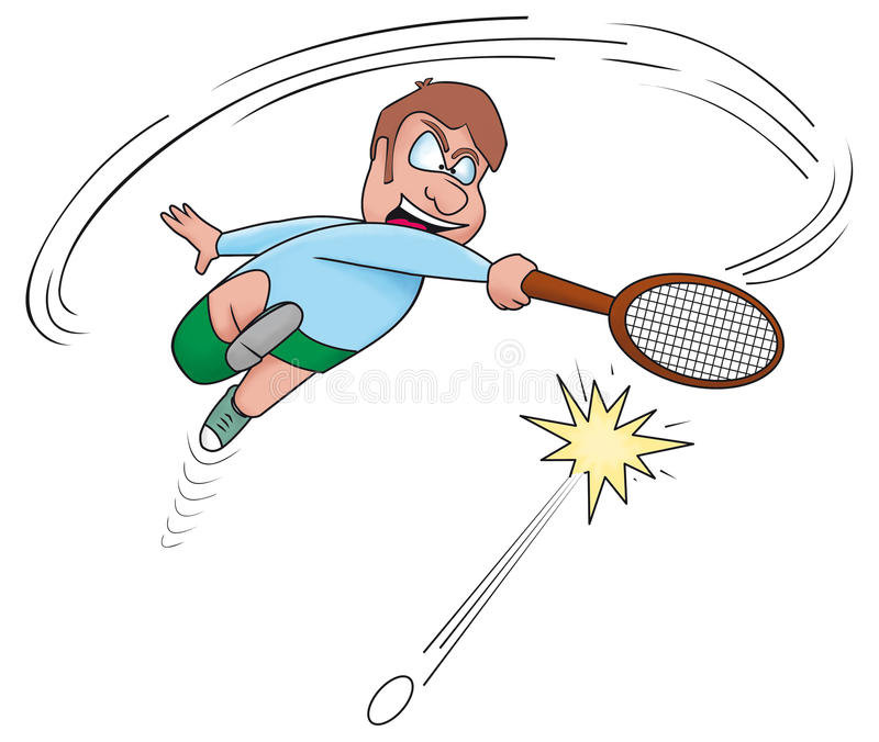 网球员 库存例证