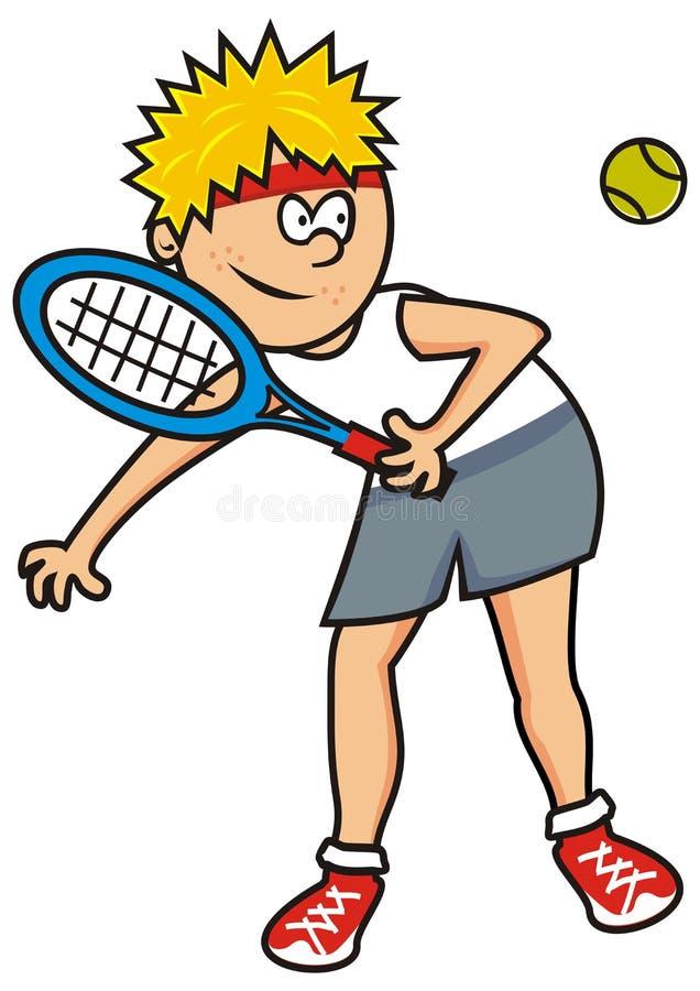 网球员 向量例证