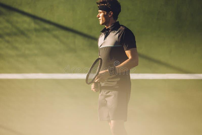 网球场的职业玩家 库存图片