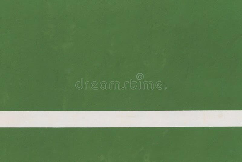 网球场空白线路绿色地板背景的 免版税库存照片