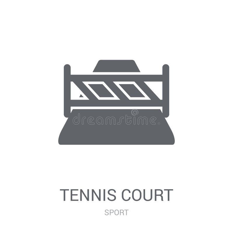 网球场象  向量例证