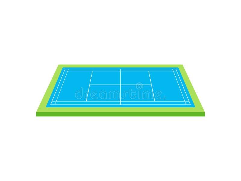 网球场 o r 向量例证