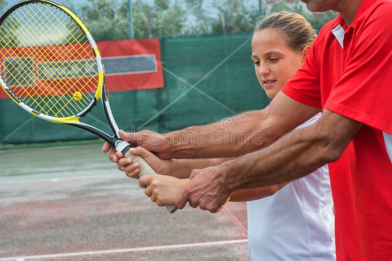 网球学校 免版税图库摄影