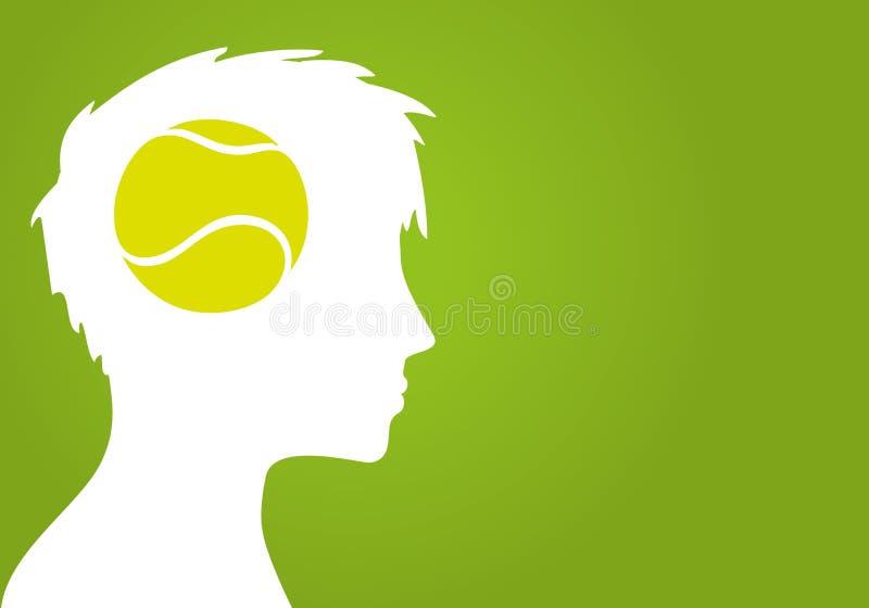 网球承诺 库存例证