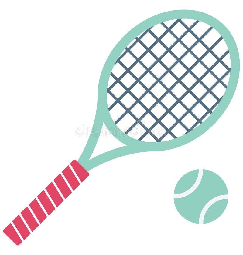 网球拍颜色可能容易地修改或编辑的传染媒介象 向量例证