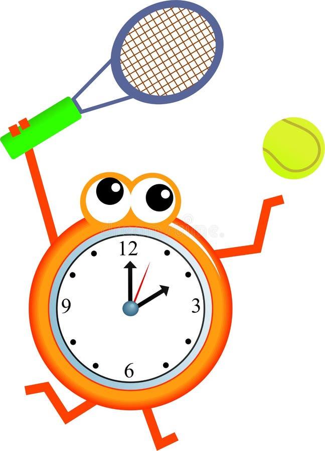 网球时间 库存例证