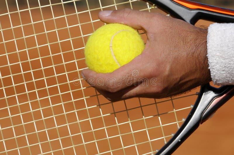 网球服务 免版税库存照片