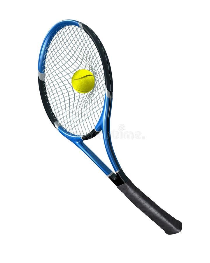 网球服务 皇族释放例证