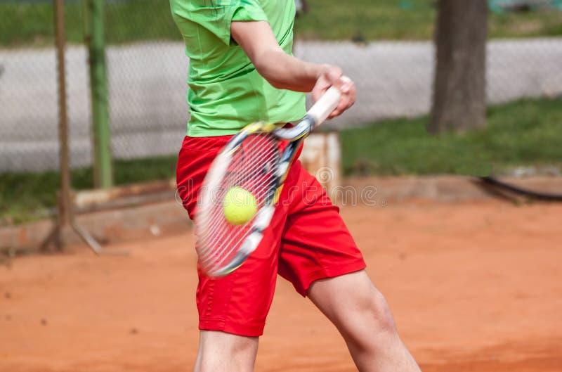 网球正手击球 库存照片