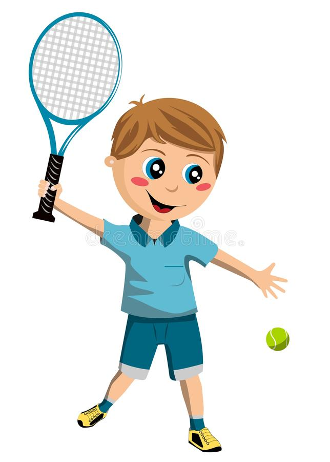 网球男孩 向量例证