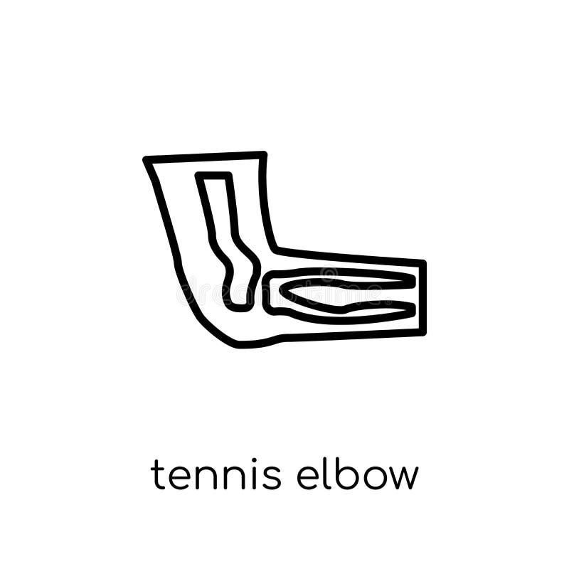 网球肘象 时髦现代平的线性传染媒介网球肘 向量例证