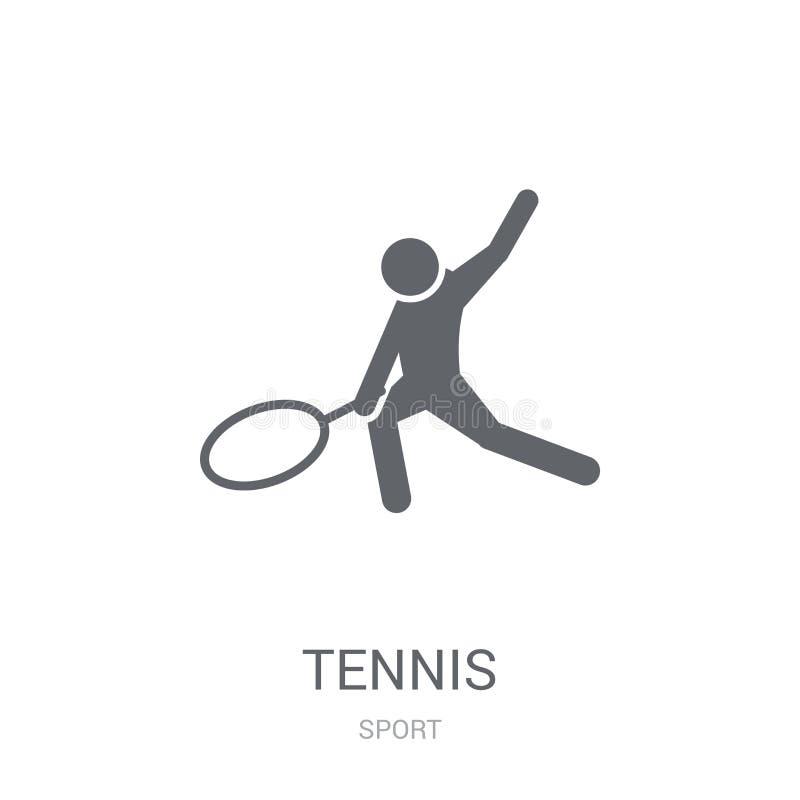 网球象  向量例证