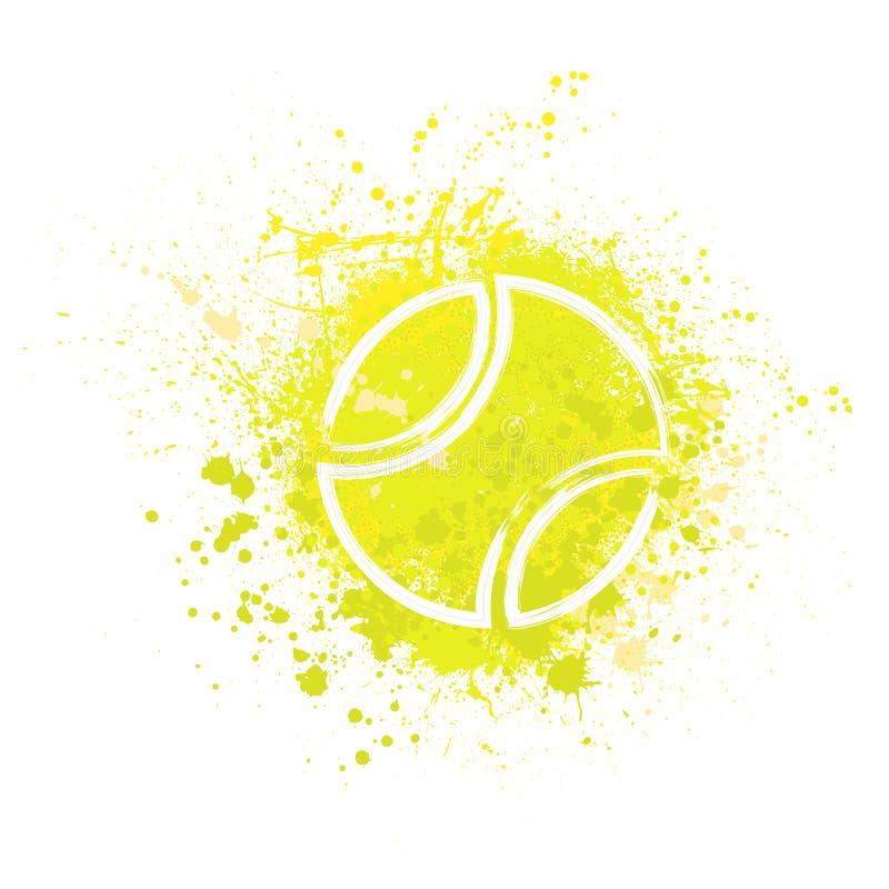 网球难看的东西背景 库存例证