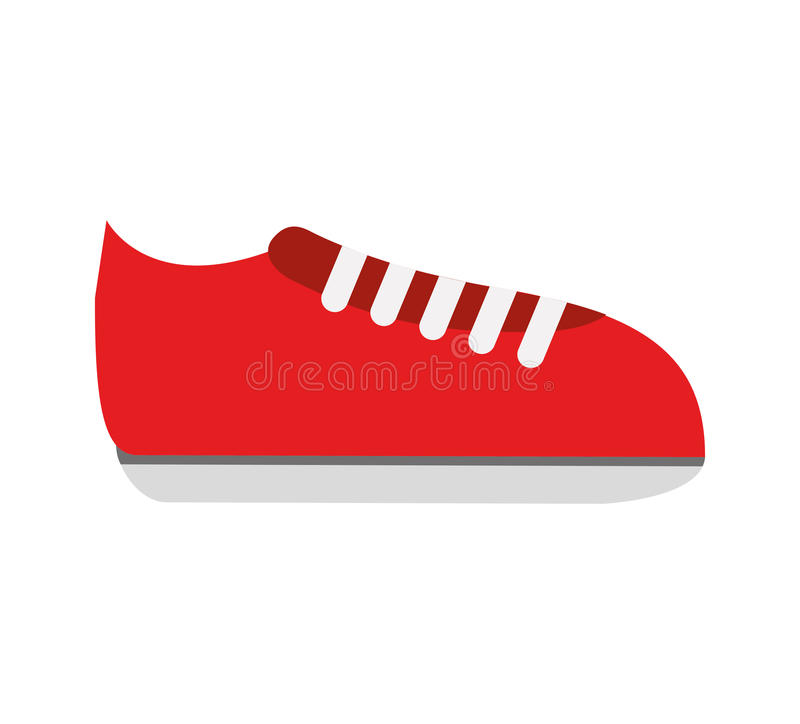 网球鞋体育被隔绝的象 皇族释放例证