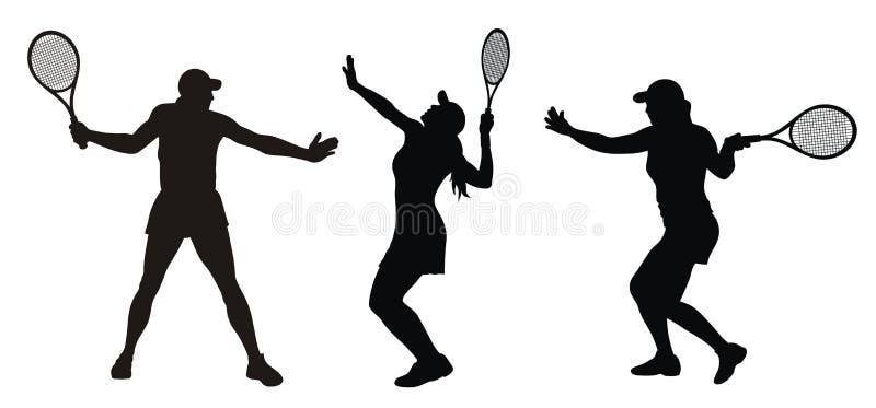 网球 向量例证