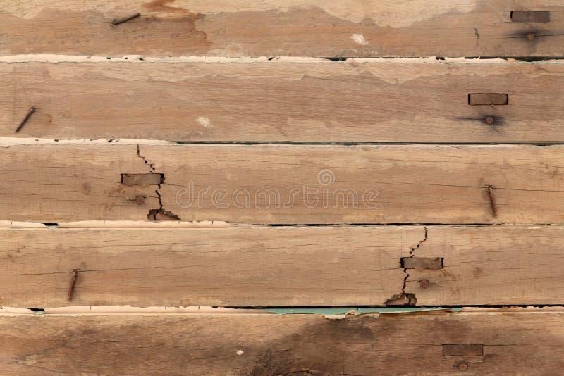 网的大布朗木板条墙壁纹理背景 免版税库存照片