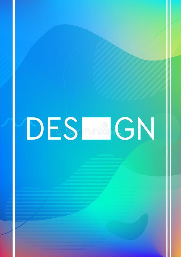 网的现代最小的五颜六色的设计封页 与令人敬畏的梯度的未来几何样式 向量例证