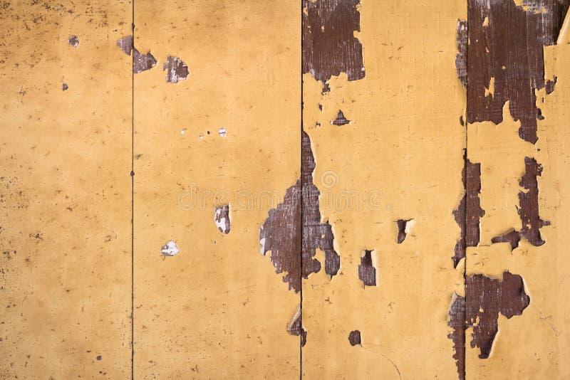 网的葡萄酒黄色木纹理 库存图片