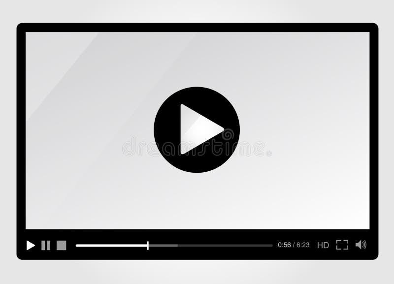 网的, minimalistic设计图象播放机 皇族释放例证