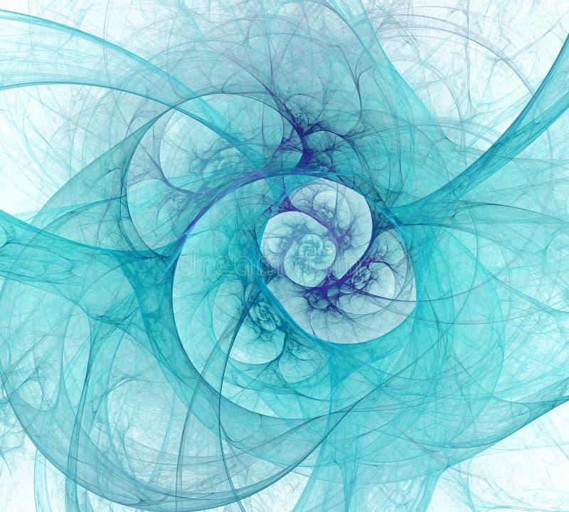网眼图案隧道的抽象分数维例证 一个抽象计算机生成的现代分数维设计 皇族释放例证