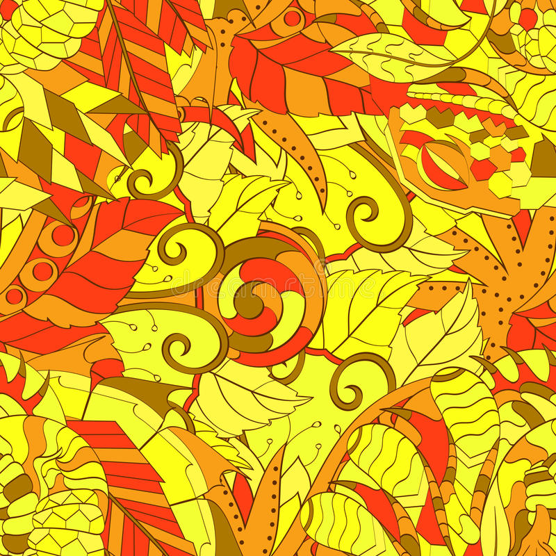 网眼图案mehndi种族装饰品 冷漠谨慎镇定的主题,能用的乱画的五颜六色的和谐设计 向量 向量例证