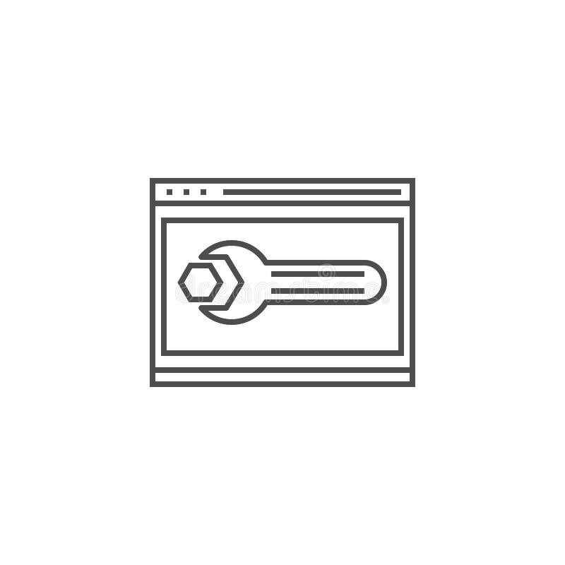 网站优化线象 库存例证