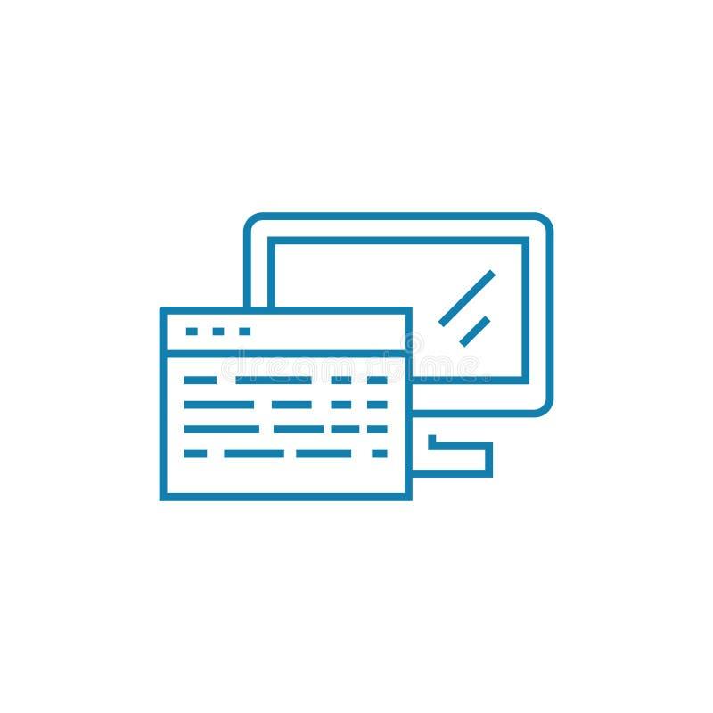 网站原始代码线性象概念 网站原始代码线传染媒介标志,标志,例证 向量例证