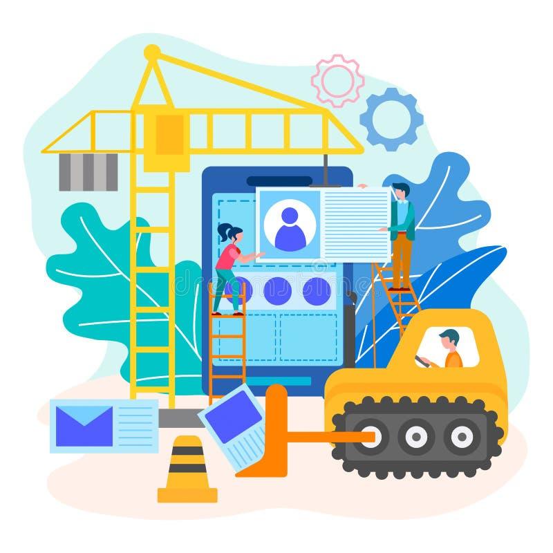 网站发展过程 库存例证