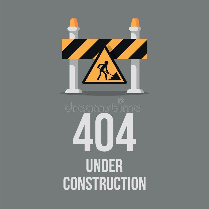 网站建设中 互联网404错误页没有发现了 网页维护,错误404,页没有发现了消息 库存例证