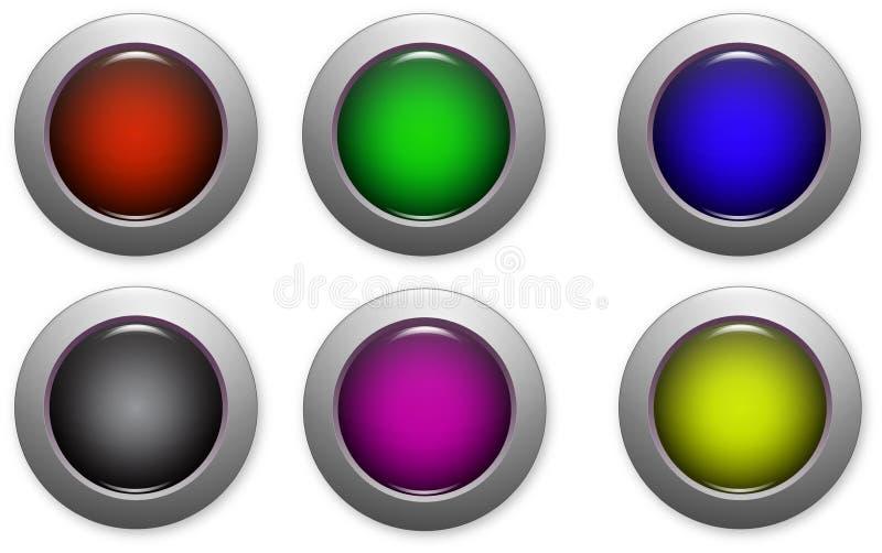 Download 网站按钮 库存例证. 插画 包括有 红色, 蓝色, 万维网, 站点, 界面, 黄色, 上色, 投反对票, 按钮 - 30336400