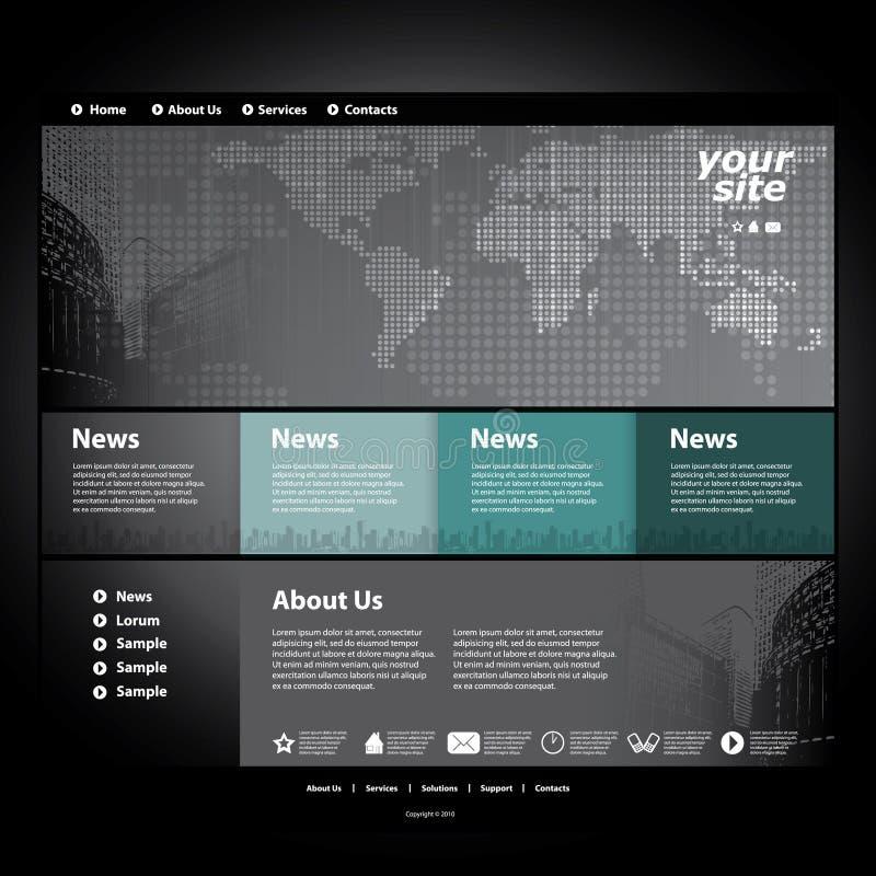 网站模板向量 皇族释放例证