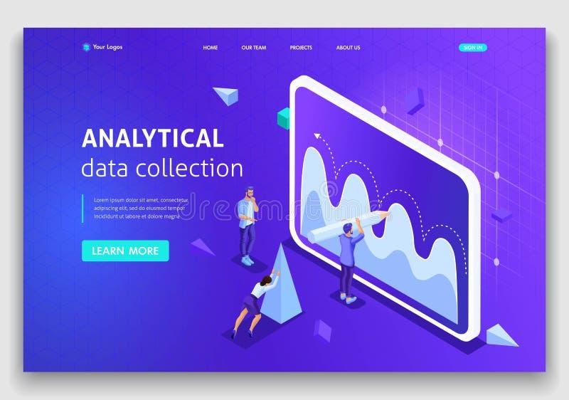 网站模板着陆页等量概念分析搜集数据,配合 容易编辑和定做 皇族释放例证