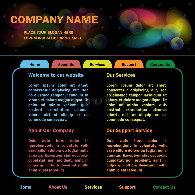 网站模板设计 向量例证