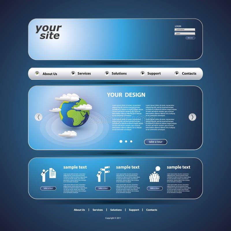 网站模板 向量例证