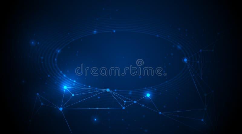 网站的抽象互联网连接设计 数字资料、通信、科学和未来派概念 库存例证