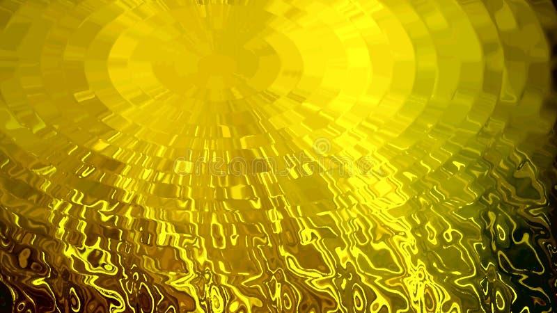 网站的金黄背景 阳光的反射在清楚的水的 皇族释放例证