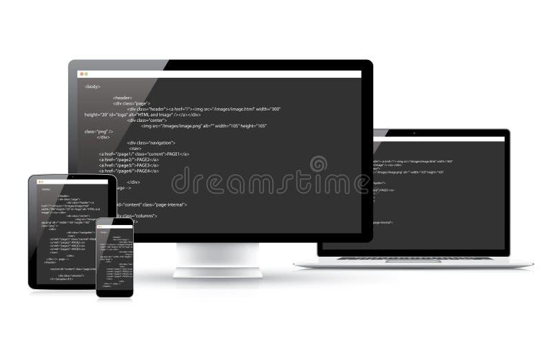 网站编制程序发展传染媒介概念选举 向量例证