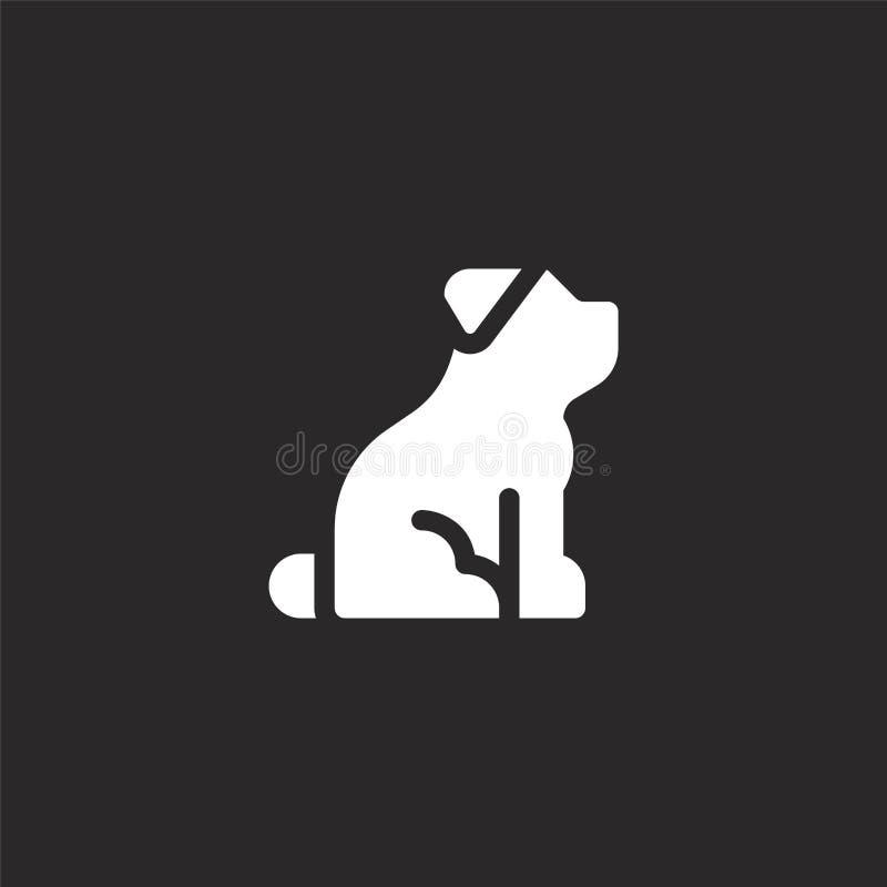 ?? 网站设计和机动性的,应用程序发展被填装的狗象 从在黑色隔绝的被填装的狗收藏的狗象 皇族释放例证