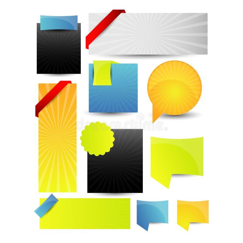 网站设计模板元素 向量 EPS10 向量例证